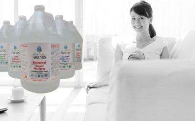 Transparent bottles clearly display purity of Soap Free Procyon® products
